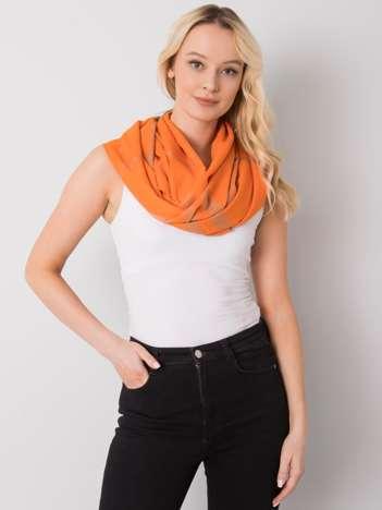 Pomarańczowa chusta w kratę