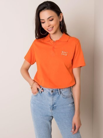 Pomarańczowa koszulka polo Annabelle RUE PARIS