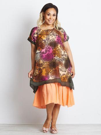 Pomarańczowa sukienka plus size Channeling