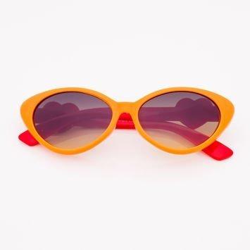 Pomarańczowe Fluorescencyjne Dziecięce Okulary przeciwsłoneczne