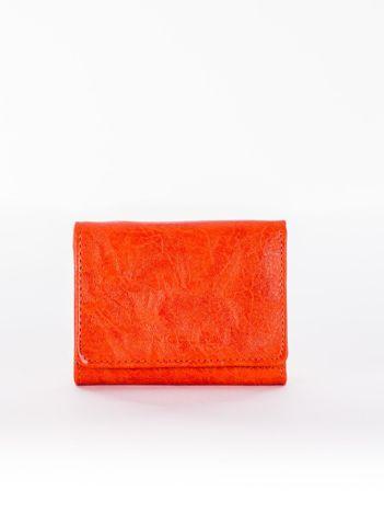 Pomarańczowy portfel damski z ekoskóry