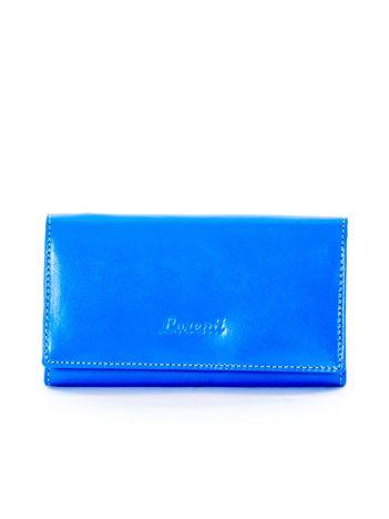 Portfel damski niebieski