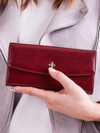 Poziomy portfel damski bordowy