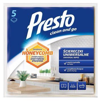 Presto Uniwersalne ściereczki czyszczące Honeycomb - niebieskie  1op.- 5 szt