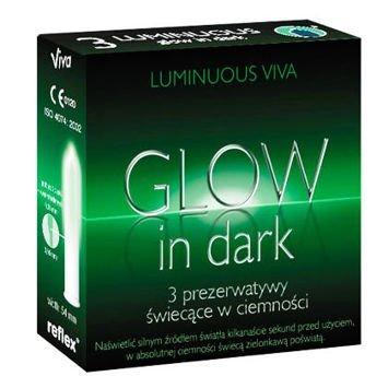 Prezerwatywy Viva Glow in Dark Luminuous 3 szt. Świecą w ciemności!