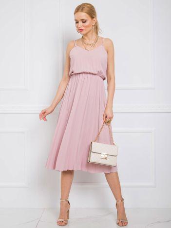 Pudroworóżowa sukienka Bridget RUE PARIS