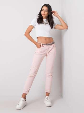 Pudroworóżowe spodnie Rabella