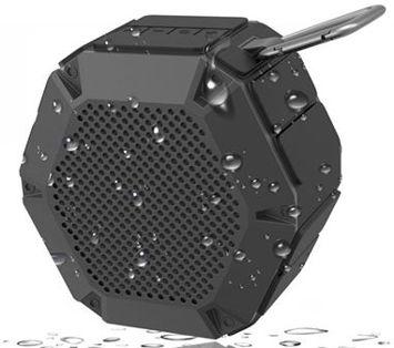 Q-touch Wodoodporny pływający głośnik bluetooth 4.2 Moc 5W Odtwarza muzykę do 8h Kolor szary