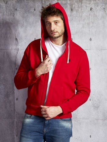 RALPH LAUREN Czerwona ocieplana bluza męska z kapturem