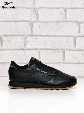 REEBOK czarne klasyczne buty sportowe Classic Leather