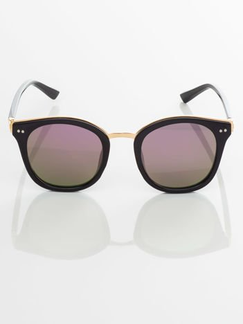 RETRO okulary przeciwsłoneczne lustrzanka fioletowa