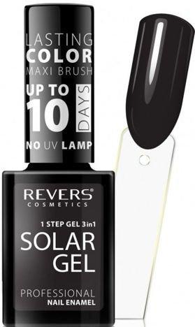 REVERS Lakier do paznokci SOLAR GEL 24 deep black 12 ml