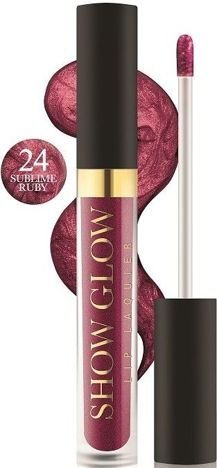REVERS Metaliczna pomadka do ust w płynie SHOW GLOW nr 24 SUBLIME RUBY 5,5 ml