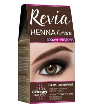 REVIA HENNA DO BRWI W KREMIE BRĄZOWA 15 ml