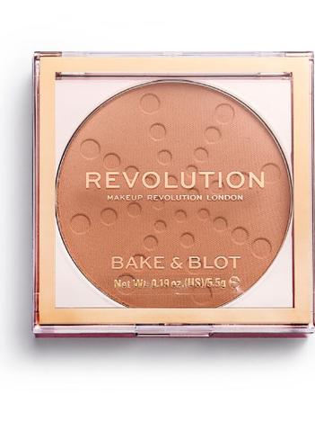 REVOLUTION Bake & Blot Puder matujący Peach 5,5 g