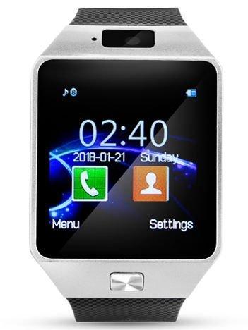 RONEBERG Smartwatch R09 Współpracuje z Android oraz iOS Powiadomienia Połączenia Krokomierz Monitor snu Czarno-srebrny