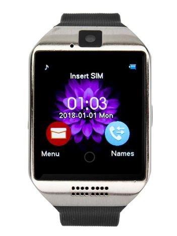 RONEBERG Smartwatch RQ18 Współpracuje z Android oraz iOS Powiadomienia Kamera Połączenia Krokomierz Czarny