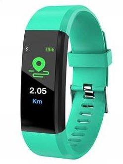 RONEBERG Smartwatch Smartband R115 Pulsometr Ciśnieniomierz Oksymetr Powiadomienia Długi czas działania Wodoodporny IP 67 Zielony
