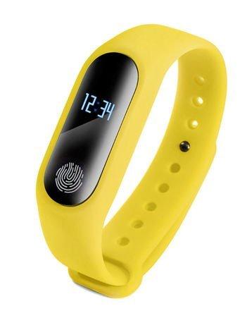 RONEBERG Smartwatch Smartband R2 Pulsometr Ciśnieniomierz Oksymetr Powiadomienia Długi czas działania Wodoodporny IP 67 Żółty