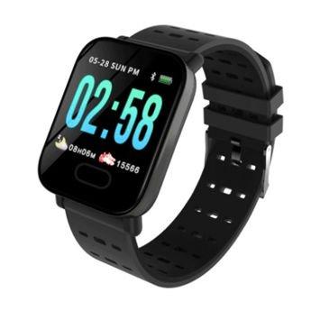 RONEBERG Smartwatch Smartband RA6 Pulsometr Ciśnieniomierz Oksymetr Powiadomienia Długi czas działania Czarny