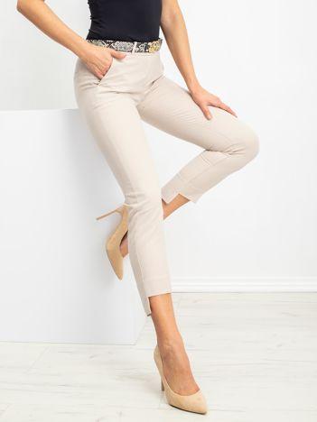 RUE PARIS Beżowe spodnie Meghan
