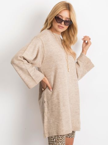 RUE PARIS Beżowy sweter Perfect