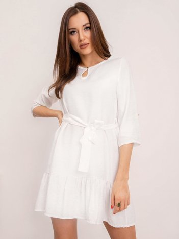 RUE PARIS Biała sukienka Ellaine