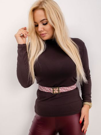 RUE PARIS Brązowa bluzka plus size Brooke