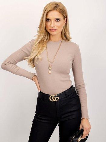 RUE PARIS Ciemnobeżowa bluzka Bianca