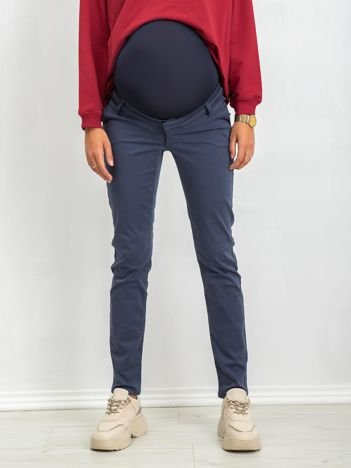 RUE PARIS Ciemnoniebieskie spodnie ciążowe Jess