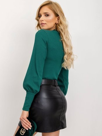 RUE PARIS Ciemnozielona bluzka Lauren