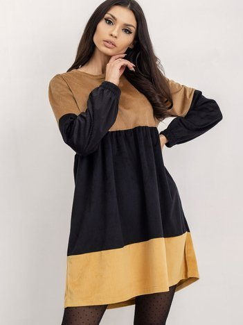 RUE PARIS Czarno-camelowa sukienka Selene