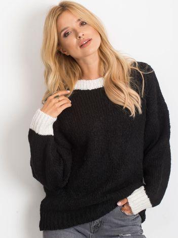 RUE PARIS Czarny sweter Pretty