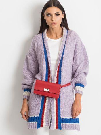 RUE PARIS Fioletowy sweter Lavish