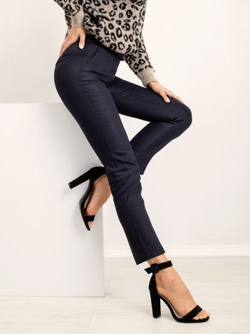 RUE PARIS Granatowe spodnie Tripping