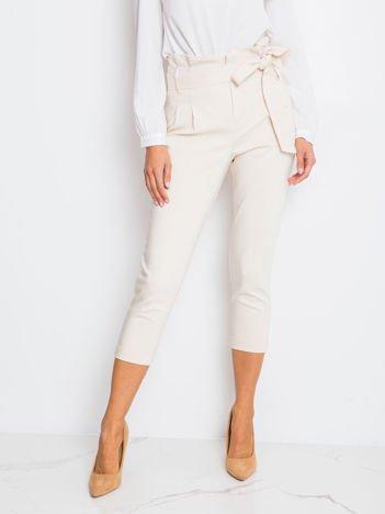 RUE PARIS Jasnobeżowe spodnie Lovely