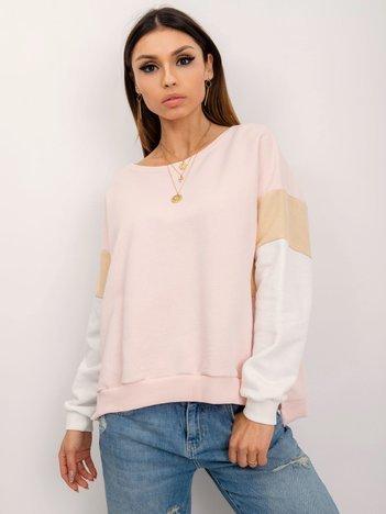 RUE PARIS Jasnoróżowa bluza Mona