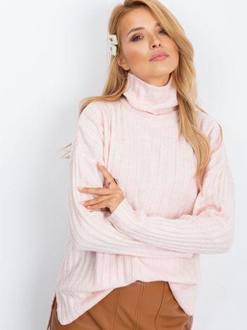 RUE PARIS Jasnoróżowy sweter Aubrie