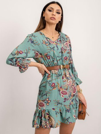 RUE PARIS Jasnozielona sukienka Brillance