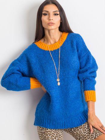 RUE PARIS Kobaltowy sweter Pretty