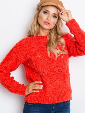 RUE PARIS Koralowy sweter Tampa