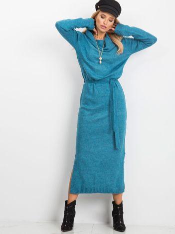 RUE PARIS Niebieska sukienka Peace