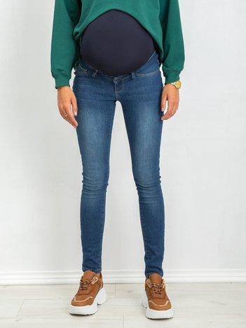 RUE PARIS Niebieskie jeansy ciążowe Hint