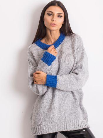 RUE PARIS Szary sweter Pretty