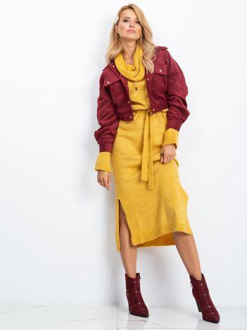 RUE PARIS Żółta sukienka Peace