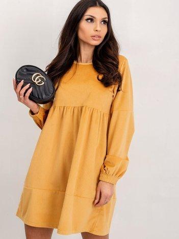 RUE PARIS Żółta sukienka Viance