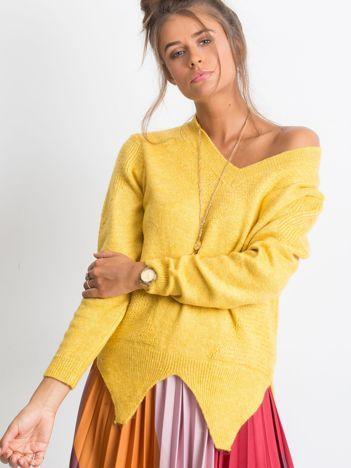 RUE PARIS Żółty sweter Believe
