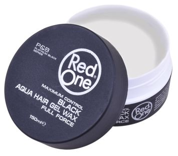 RedOne AQUA HAIR GEL WAX FULL FORCE BLACK Wodny żelowy wosk do włosów 150 ML
