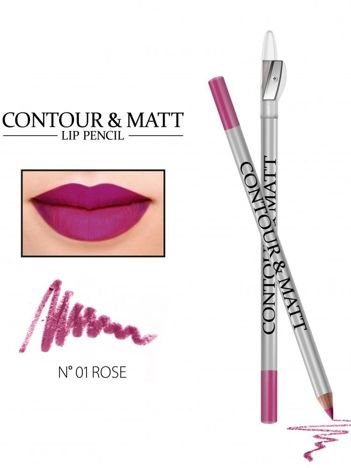 Revers Kredka do ust z temperówką CONTOUR & MATT nr 1 rose 2g