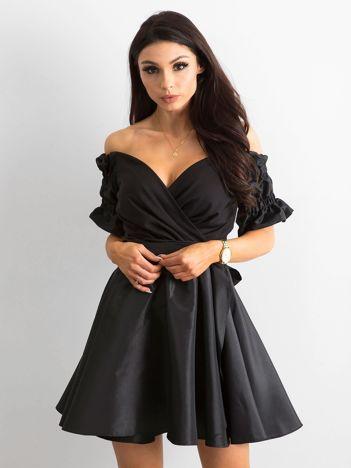 7eb70897ba Rozkloszowana sukienka czarna BY O LA LA